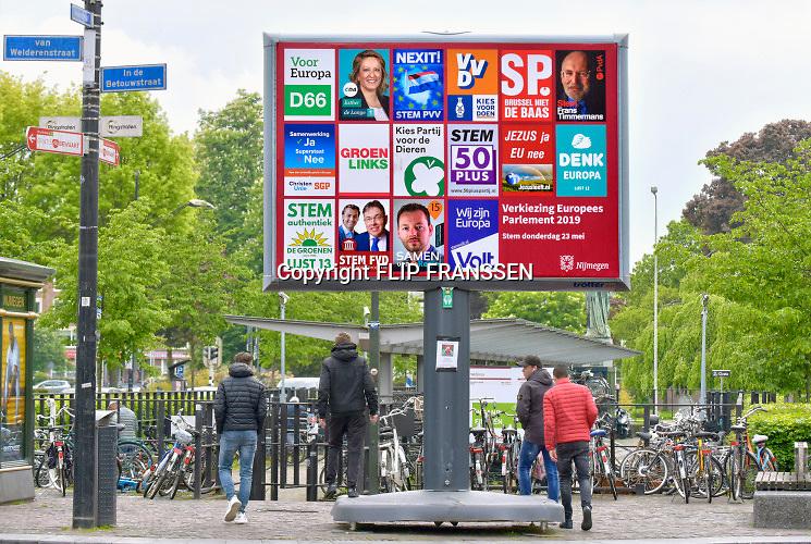 Nederland, Nijmegen, 7-5-2019 Campagne voor de verkiezingen voor het europees parlement is begonnen. Foto: Flip Franssen
