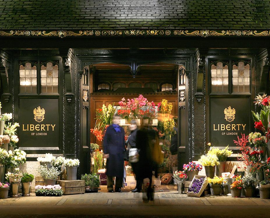 london department store flowers liberty