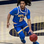January 21 2021 Berkeley, CA  U.S.A.  UCLA Bruins guard Tyger Campbell (10) brings the ball up court during the NCAA Men's Basketball game between UCLA Bruins and the California Golden Bears 61-57 win at Hass Pavilion Berkeley Calif.  Thurman James / CSM