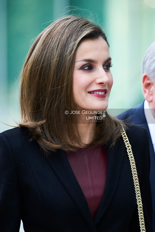 Queen Letizia of Spain visits CNIC (National Center for Cardiovascular Research Foundation) on February 9, 2017 in Madrid, Spain