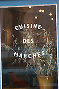 Restaurant l'Horloge, the clock, on the main square, cuisine based on market shopping. Montpeyroux. Languedoc. France. Europe.