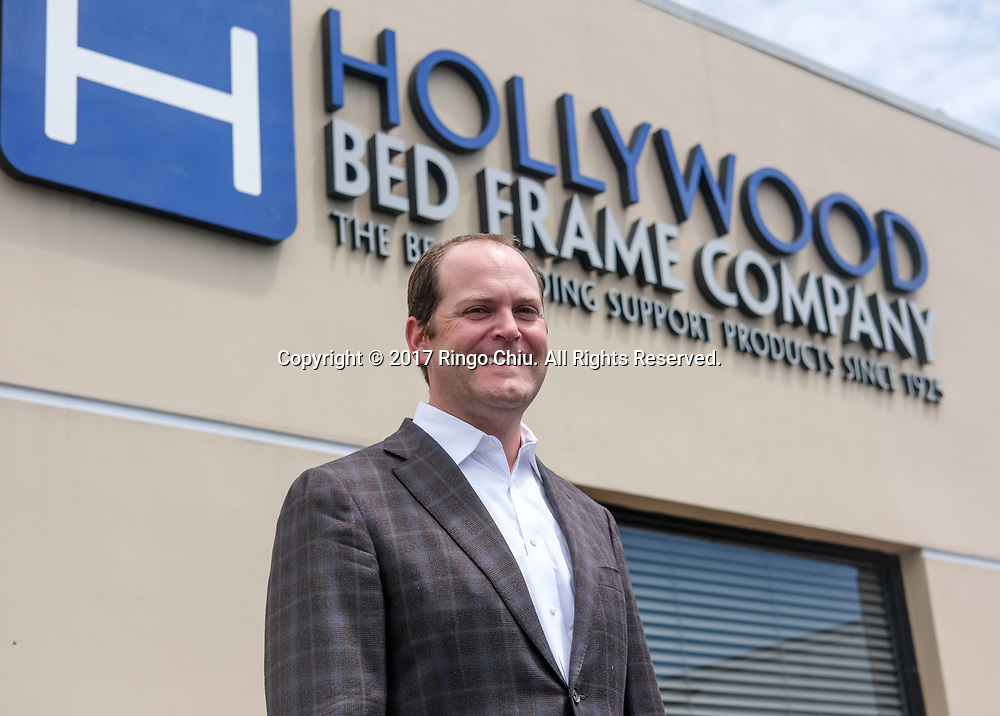 Jason Harrow, the president of Hollywood Bed Frame Company, headquartered in Commerce. (Photo by Ringo Chiu/PHOTOFORMULA.com)<br /> <br /> Usage Notes: This content is intended for editorial use only. For other uses, additional clearances may be required.