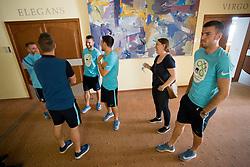 Zbor nogometne reprezantance Slovenije na Brdu pri Kranju, on April 27, 2018 in Brdo pri Kranju, Slovenia. Photo by Urban Urbanc / Sportida
