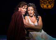GASTON DE CARDENAS/EL NUEVO HERALD - Florida Grand Opera's Samson et Dalila: Denyce Graves and Jon Villars in the title roles.