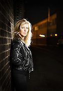 Crime author Anna Larsson in Malmö 2014.<br /> Photo by Ola Torkelsson ©