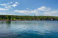 North Shore Lake Superior at Goosebury Falls State Park Minnesota