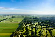 Nederland, Noord-Holland, Purmerend, 13-06-2017; Polder De Purmer gezien naar  Amsterdam-Noord. Purmerbos met golfbaan on de voorgrond. Polder Purmer.<br /> luchtfoto (toeslag op standaard tarieven);<br /> aerial photo (additional fee required);<br /> copyright foto/photo Siebe Swart