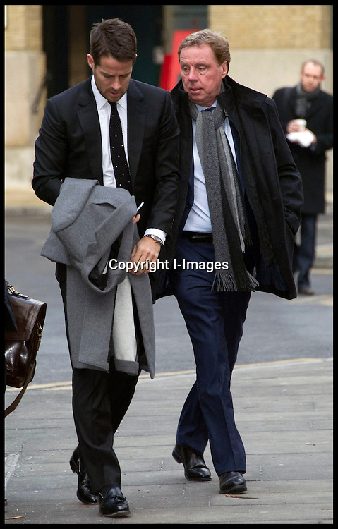 Harry Redknapp, the manager of Tottenham Hotspur football club, and his son Jamie arrive at Southwark Crown Court on February 7, 2012 in London, England. Football manager Harry Redknapp and former Portsmouth FC chairman Milan Mandaric face charges of tax evasion between 2002 and 2004 when Mr Redknapp served as manager of Portsmouth FC. Photo by i-Images