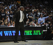 Cleveland head coach Mike Brown..The Cleveland Cavaliers defeated the Boston Celtics 108-84 in Game 3 of the Eastern Conference Semi-Finals at Quicken Loans Arena in Cleveland.