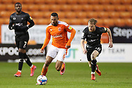 Blackpool Forward Keshi Anderson (8) runs with the ball during the EFL Sky Bet League 1 match between Blackpool and Doncaster Rovers at Bloomfield Road, Blackpool, England on 4 May 2021.