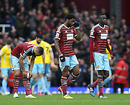 West Ham's Alex Song looks on dejected after going 3-1 down<br /> <br /> Barclays Premier League - West Ham United  vs Crystal Palace  - Upton Park - England - 28th February 2015 - Picture David Klein/Sportimage