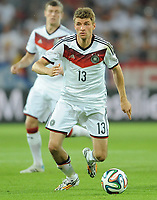 Fotball<br /> Tyskland v Armenia<br /> 06.06.2014<br /> Foto: Witters/Digitalsport<br /> NORWAY ONLY<br /> <br /> Thomas Müller (Deutschland)<br /> Fussball, Testspiel, Deutschland - Armenien 6:1