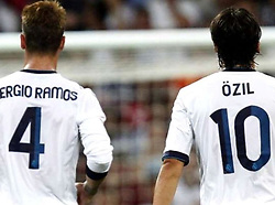 """Mesut Oezil releases a photo on Twitter with the following caption: """"""""Happy Birthday Bro 😘 @SergioRamos"""""""". Photo Credit: Twitter *** No USA Distribution *** For Editorial Use Only *** Not to be Published in Books or Photo Books ***  Please note: Fees charged by the agency are for the agency's services only, and do not, nor are they intended to, convey to the user any ownership of Copyright or License in the material. The agency does not claim any ownership including but not limited to Copyright or License in the attached material. By publishing this material you expressly agree to indemnify and to hold the agency and its directors, shareholders and employees harmless from any loss, claims, damages, demands, expenses (including legal fees), or any causes of action or allegation against the agency arising out of or connected in any way with publication of the material."""