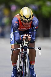 June 7, 2017 - Bourgoin Jallieu, France - BOURGOIN-JALLIEU, FRANCE - JUNE 7 : ARASHIRO Yukiya (JAP) Rider of Team Bahrain - Merida during stage 4 of the 69th edition of the Criterium du Dauphine Libere cycling race, an individual time trail of 23,5 kms between La Tour-du-Pin and Bourgoin-Jallieu on June 07, 2017 in Bourgoin-Jallieu, France, 7/06/2017 (Credit Image: © Panoramic via ZUMA Press)