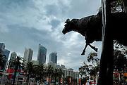 """Curtain Call"" sculpture by Les Kossatz. Darling Harbour, Sydney, Australia"