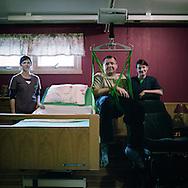 Arvid Bergheim at Huus has MS.he is helped by Bente Egge Soevde,left, and Britt Lovise Stoefring