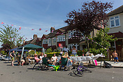 Neighbours and friends from Egremont Road in South London enjoy mid summer with a residential street party on the 24th June 2018 in West Norwood in the United Kingdom.