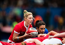 Keira Bevan of Wales puts in to the scrum<br /> <br /> Photographer Simon King/Replay Images<br /> <br /> Six Nations Round 1 - Wales Women v Italy Women - Saturday 2nd February 2020 - Cardiff Arms Park - Cardiff<br /> <br /> World Copyright © Replay Images . All rights reserved. info@replayimages.co.uk - http://replayimages.co.uk