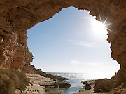 A cave at the Eyre Peninsula, Ellison, South Australia, Australia