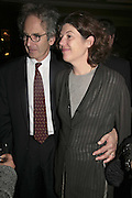 ERIC ABRAHAM AND SIGRID RAUSING. The Colman Getty Pen Quiz, Cafe Royal. London. 27 November 2006. ONE TIME USE ONLY - DO NOT ARCHIVE  © Copyright Photograph by Dafydd Jones 66 Stockwell Park Rd. London SW9 0DA Tel 020 7733 0108 www.dafjones.com