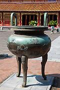 Dynastic Urn in front of Mieu Temple, Hue Citadel / Imperial City, Hue, Vietnam