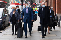 © Licensed to London News Pictures. 19/10/2020. London, UK.  EU Commission Vice-President MAROS SEFCOVIC (M)leaves London after talks with the EU Commission Vice-President. The UK Government have exporessd Post-Brexit agreements discussions have stalled.   Photo credit: Ray Tang/LNP