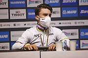 Press conference Julian Alaphilippe of France, winner during the 2020 UCI World Road Championships, Men Elite Road Race, on September 27, 2020 at Autodromo Enzo and Dino Ferrari in Imola, Italy - Photo Laurent Lairys / ProSportsImages / DPPI