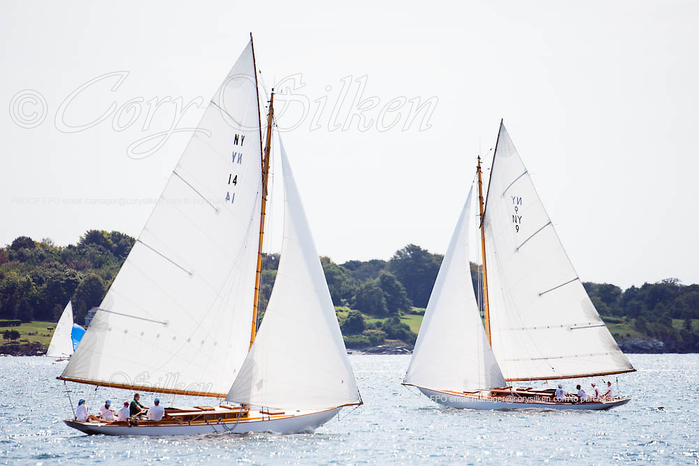 Cara Mia and Amorita, NY30 Class, sailing in the Museum of Yachting Classic Yacht Regatta, day two.