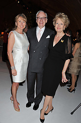 Left to right, LORRAINE SPENCER and LORD & LADY CHADLINGTON at a dinner hosted by Cartier following the following the opening of the Chelsea Flower Show 2012 held at Battersea Power Station, London on 21st May 2012.
