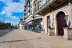 Edinburgh, Scotland, UK. 8 April 2020. Images from Edinburgh during the continuing Coronavirus lockdown. Pictured; Empty Princes Street. Iain Masterton/Alamy Live News.