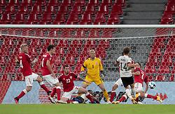 Dries Mertens (Belgien) scorer til 0-2 under UEFA Nations League kampen mellem Danmark og Belgien den 5. september 2020 i Parken, København (Foto: Claus Birch).