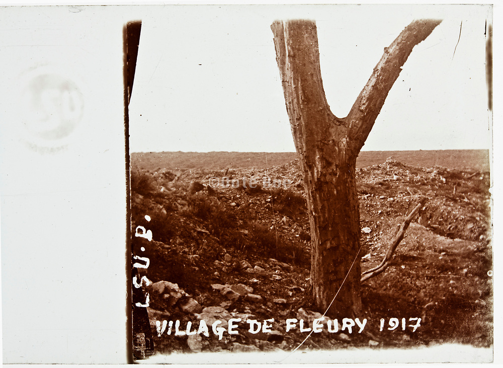 WW1 battlefield at Fleury France 1917