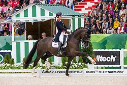 Charlotte Dujardin and Valegro winner Grand Prix Special - Grand Prix Special Dressage - Alltech FEI World Equestrian Games™ 2014 - Normandy, France.<br /> © Hippo Foto Team - Leanjo de Koster<br /> 25/06/14