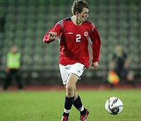 Fotball<br /> Kvalifisering UEFA EM-kvalifisering G18 / U19<br /> Norge v Latvia 2-1<br /> Bislett Stadion<br /> Foto: Morten Olsen, Digitalsport<br /> <br /> Magne Simonsen - Norge og Lyn Oslo
