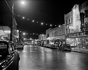 Y-501205.  Forest Grove main street at night. December 5, 1950
