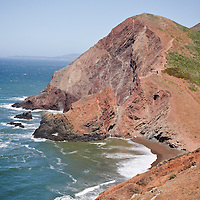 Hiking along the cliffs of the Golden Gate National Recreation Area