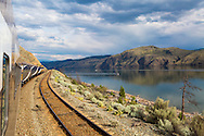 Rocky Mountaineer is a Canadian tour company that operates trains on four rail routes through British Columbia and Alberta.  Pictured here is the route from Vancouver to Kamloops, British Columbia.