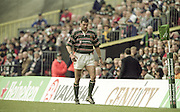 Watford. Great Britain. <br /> Tigers Captain, Martin JOHNSON , returning to the field after his 10 minutes in the sin bin. Heineken Cup Semi Final; Gloucester Rugby vs Leicester Tigers. Vicarage Road Stadium, Hertfordshire.England.  <br /> <br /> [Mandatory Credit, Peter Spurrier/ Intersport Images].