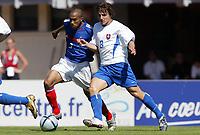 Fotball<br /> Privatlandskamp U 21<br /> Frankrike v Slovakia<br /> 8. september 2004<br /> Foto: Digitalsport<br /> NORWAY ONLY<br /> GAEL CLICHY (FRA) / MILAN IVANA (SLO) *** Local Caption *** 40001312