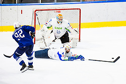 Magovac Aleksandar of Slovenia diving during match at Beat Covid 19 IIHF Tournament 2021 between national teams of Slovenia and France in Hala Tivoli on 17th of May, 2021, Ljubljana, Slovenia . Photo By Grega Valancic / Sportida