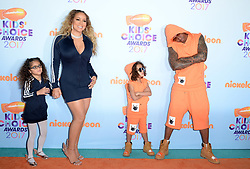 Monroe Cannon, Nick Cannon, Moroccan Scott Cannon and Mariah Carey attend the Nickelodeon's 2017 Kids' Choice Awards at USC Galen Center on March 11, 2017 in Los Angeles, California. Photo by Lionel Hahn/ABACAUSA.COM