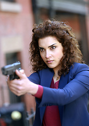 """EXCLUSIVE: Jon Bernthal and Amber Rose Revah film Marvel's """"The Punisher"""" films in Brooklyn. 28 Apr 2018 Pictured: Amber Rose Revah. Photo credit: SteveSands/NewYorkNewswire/MEGA TheMegaAgency.com +1 888 505 6342"""