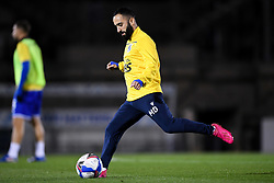Erhun Oztumer of Bristol Rovers warms up prior to kick off - Mandatory by-line: Ryan Hiscott/JMP - 27/10/2020 - FOOTBALL - Memorial Stadium - Bristol, England - Bristol Rovers v Hull City - Sky Bet League One