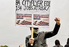BA Staff protest at airport, Edinburgh, 23 June 2020