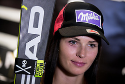 October 26, 2017 - Solden, Austria - Austrian skier Anna Veith addresses a press conference in Soelden, Austria, on October 26, 2017, ahead of the Ski World Cup. (Credit Image: © Damjan Zibert/NurPhoto via ZUMA Press)