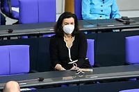 11 FEB 2021, BERLIN/GERMANY:<br /> Dorothee Baer, CSU, Staatsministerin bei der Bundeskanzlerin und Beauftragte der Bundesregierung fuer Digitalisierung, Debatte nach der  Regierungserklaerung der Bundeskanzlerin zur Bewaeltigung der Corvid-19-Pandemie, Plenum, Reichstagsgebaeude, Deutscher Bundestag<br /> IMAGE: 20210211-01-062<br /> KEYWORDS: Corona, Dorothee Bär, Maske, Mundschutz