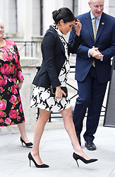 The Duchess of Sussex arriving to join a panel to celebrate International Women's Day at King's College London. Picture credit should read: Doug Peters/EMPICS