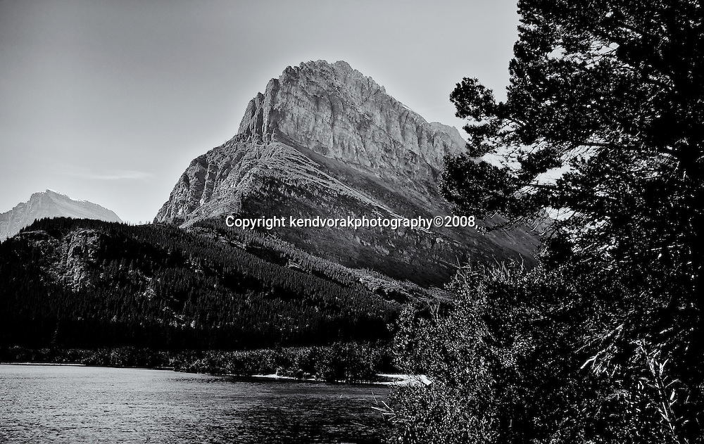Many Glacier Mountain 2<br /> converted to B&W 1/23/14