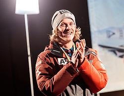 25.02.2017, Fieberbrunn, AUT, FIS Weltmeisterschaften Ski Alpin, St. Moritz 2017, Empfang Feller, im Bild Manuel Feller (AUT) // during the receiving of Manuel Feller after the Alpine Ski Wolrd Championships in St. Moritz. Fieberbrunn, Austria on 2017/02/25. EXPA Pictures © 2017, PhotoCredit: EXPA/ Johann Groder