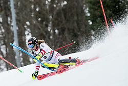 """Manuel Feller (AUT) competes during 1st Run of FIS Alpine Ski World Cup 2017/18 Men's Slalom race named """"Snow Queen Trophy 2018"""", on January 4, 2018 in Course Crveni Spust at Sljeme hill, Zagreb, Croatia. Photo by Vid Ponikvar / Sportida"""